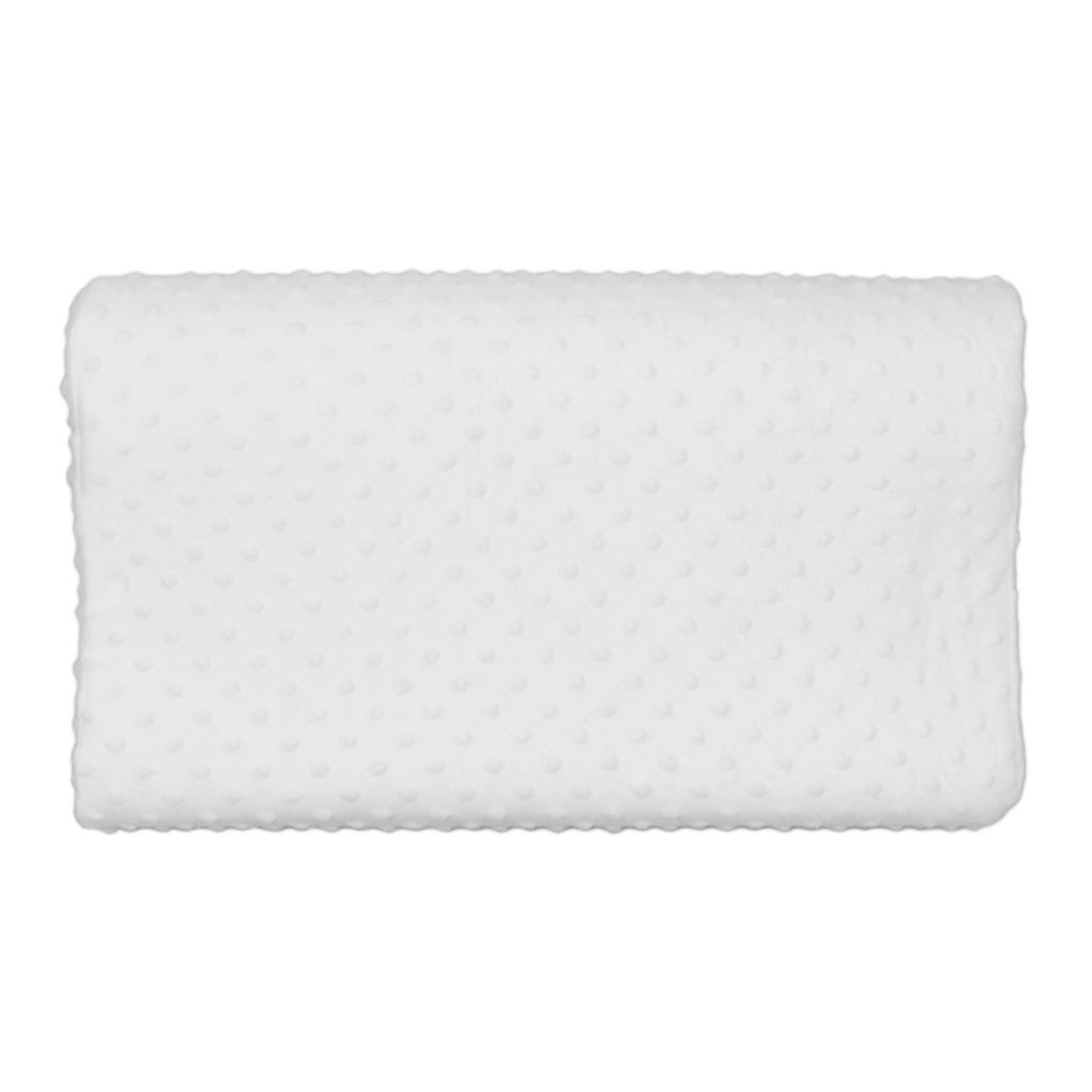 contoured memory foam pillow top