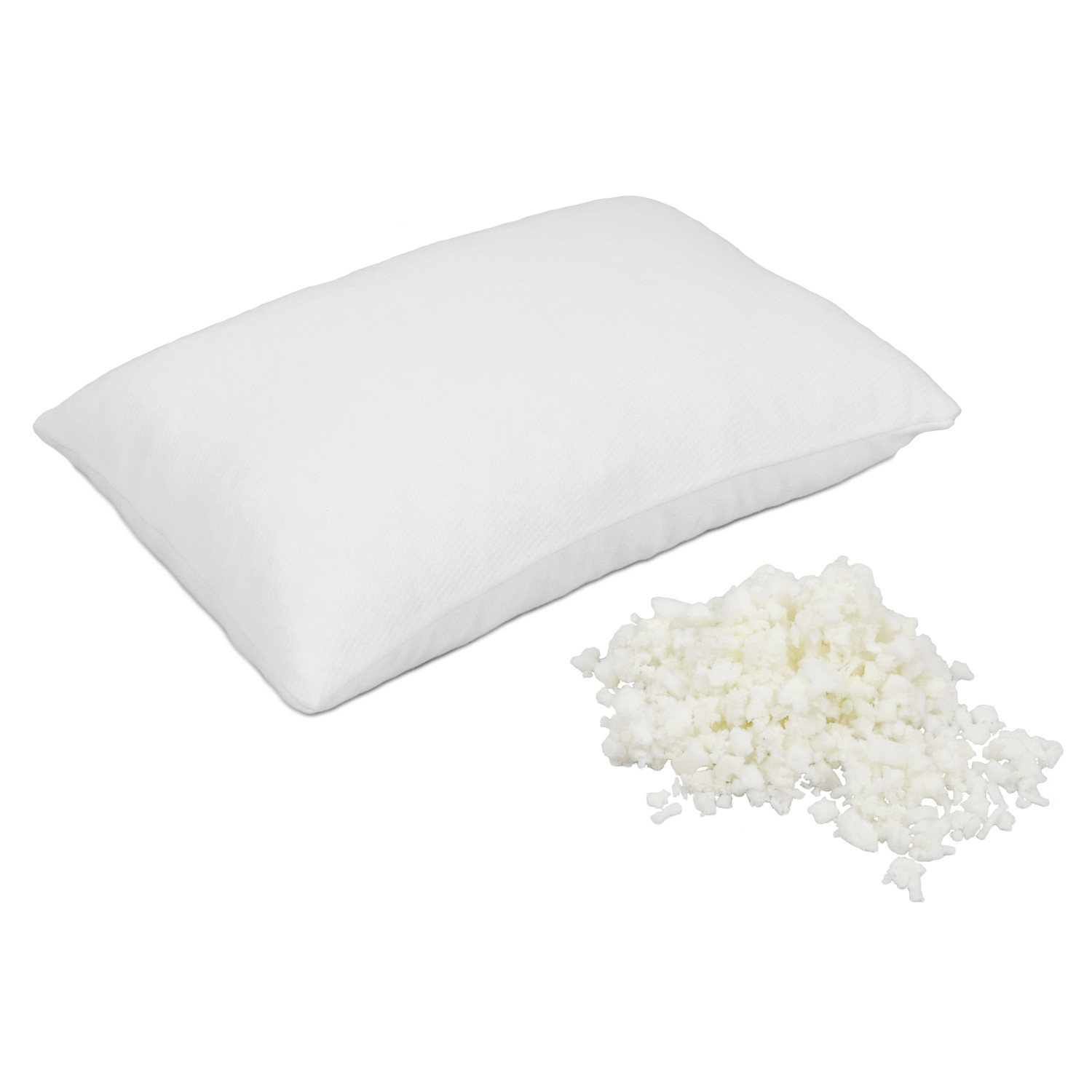 shredded memory foam pillow foam