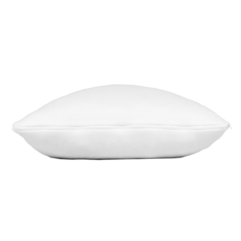 shredded memory foam pillow side